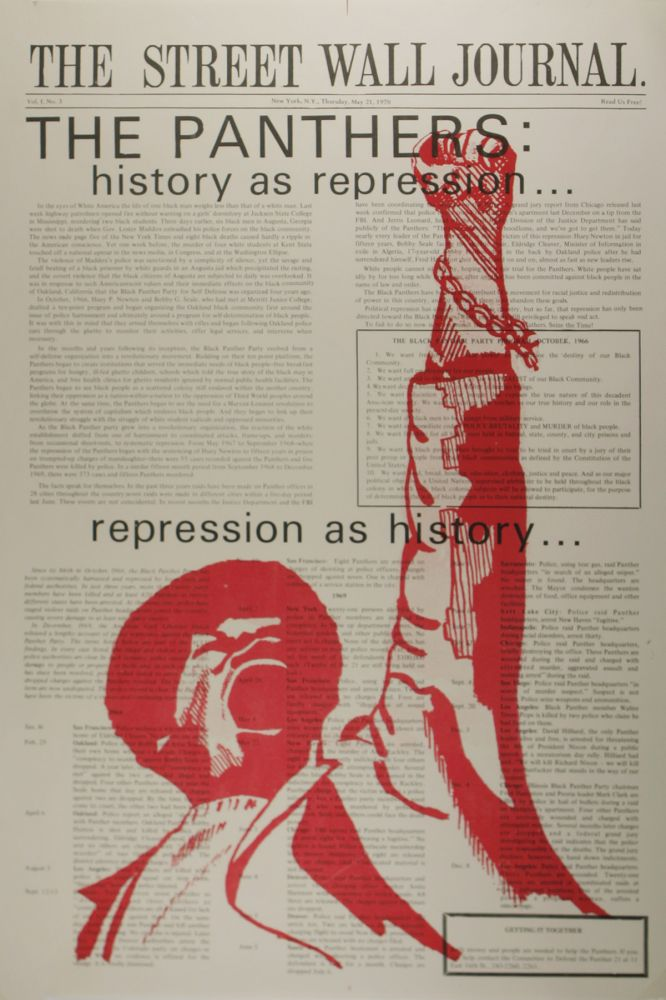 The Street Wall Journal, Numbers 1-3, with Two Variant Prints. Black Panther Party, Committee to Defend the Panther 21.