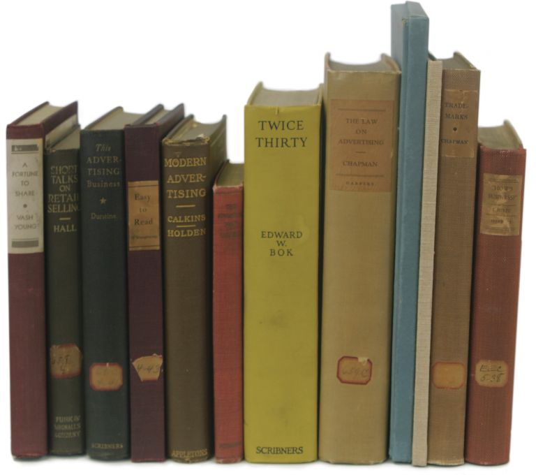 A Collection of Inscribed and Significant Books from the Personal Library of Earnest Elmo Calkins, Relating to Advertising and Deafness, Including Association Copies and Calkins' Own Works. Advertising, Earnest Elmo Calkins.
