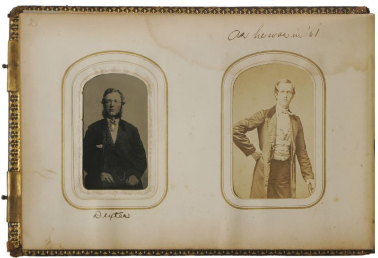 Personal Photograph Album of John Billings, Author of Hardtack and Coffee, Kept During the Civil War. John Billings, Civil War.