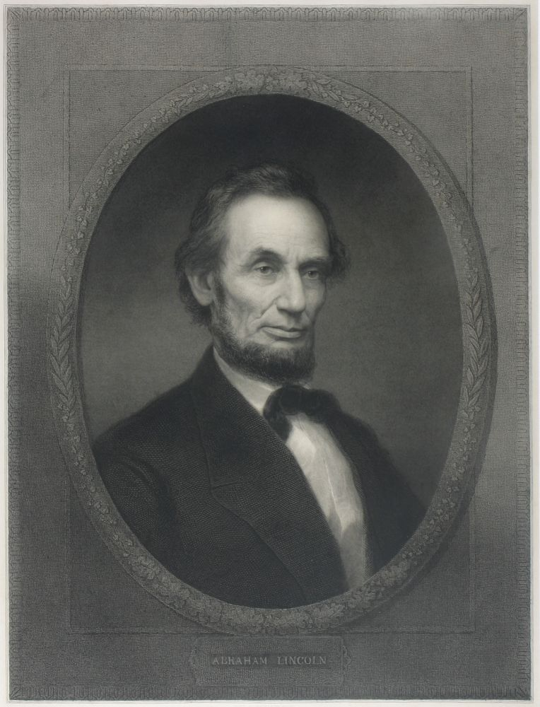 Portrait of Abraham Lincoln. Trade Edition. Abraham Lincoln, Edgar Marshall.