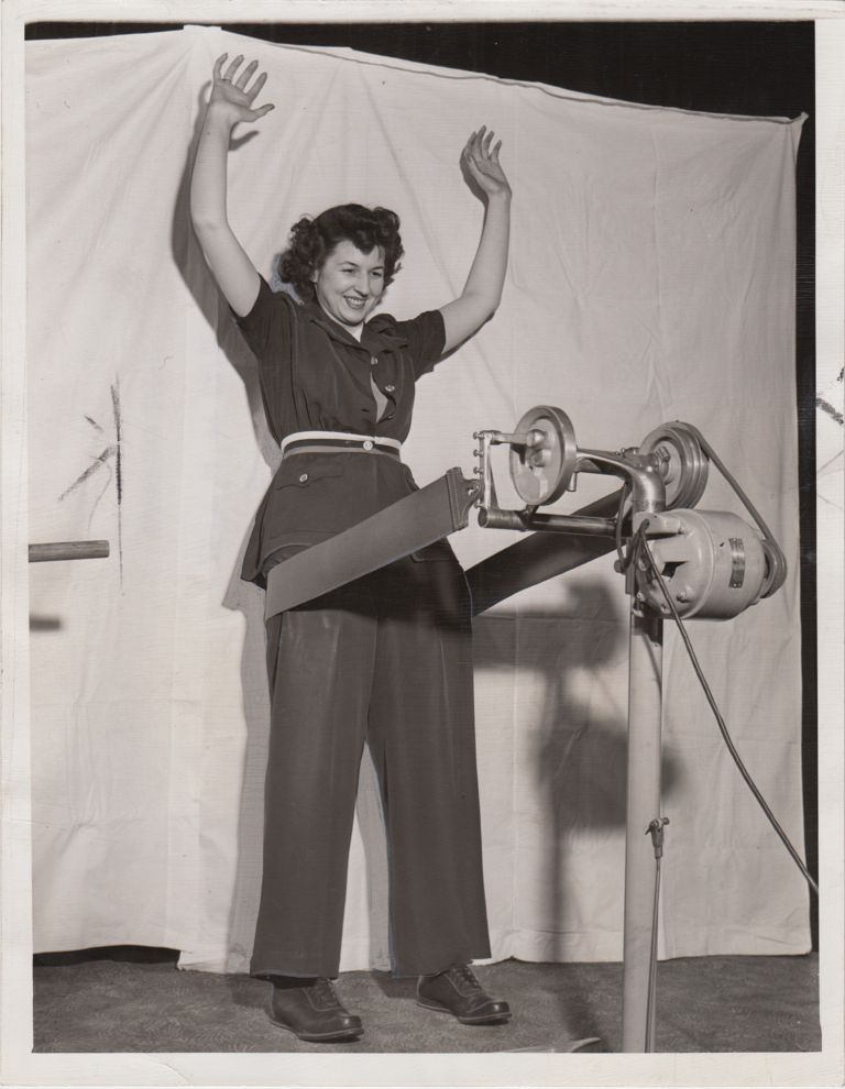 Twenty-Two Press Photographs of a Women's Fitness Program in Cleveland during World War Two. World War Two, The Homefront.