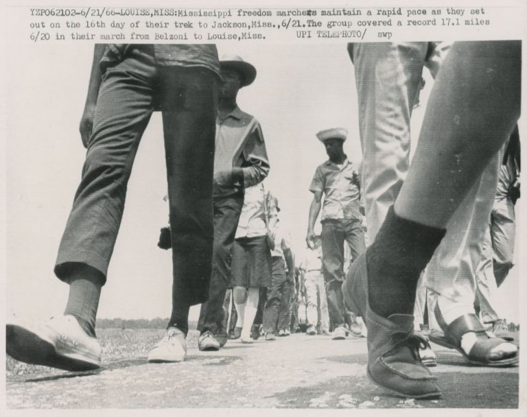 Twenty-Two A.P. Wire Photographs of the March Against Fear, June, 1966. African Americana - Civil Rights Movement - March Against Fear, Photographers Associated Press.