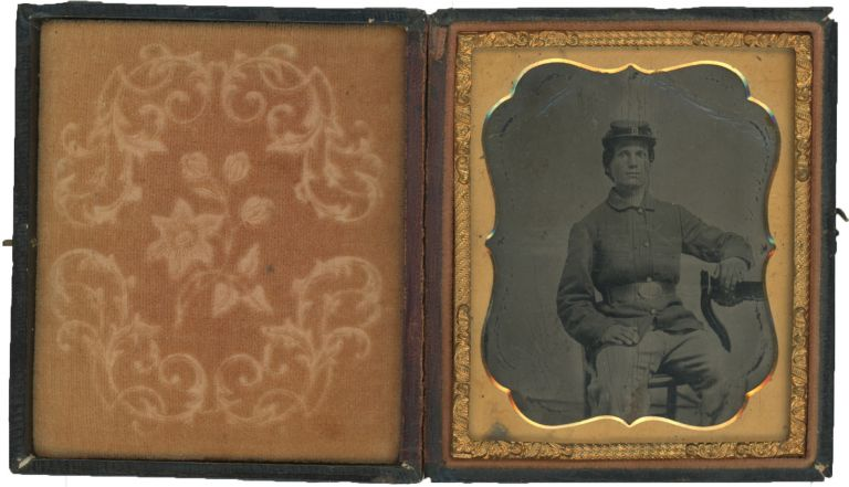 A Pair of Tintypes of Civil War Soldiers in Federal Uniforms, Possibly Women. Civil War, Women?