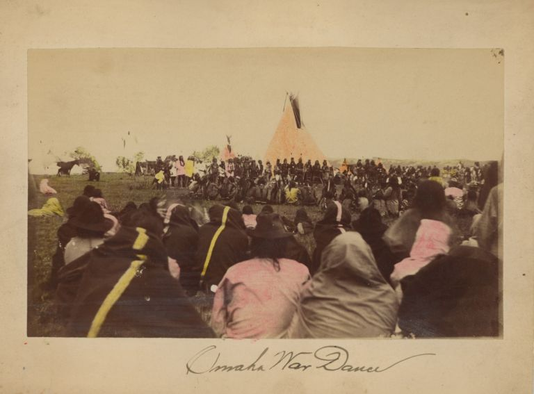 Six Photographs of American Indian Ceremonies Including the Sun Dance, c. 1880-1883. American Indians - Photography.