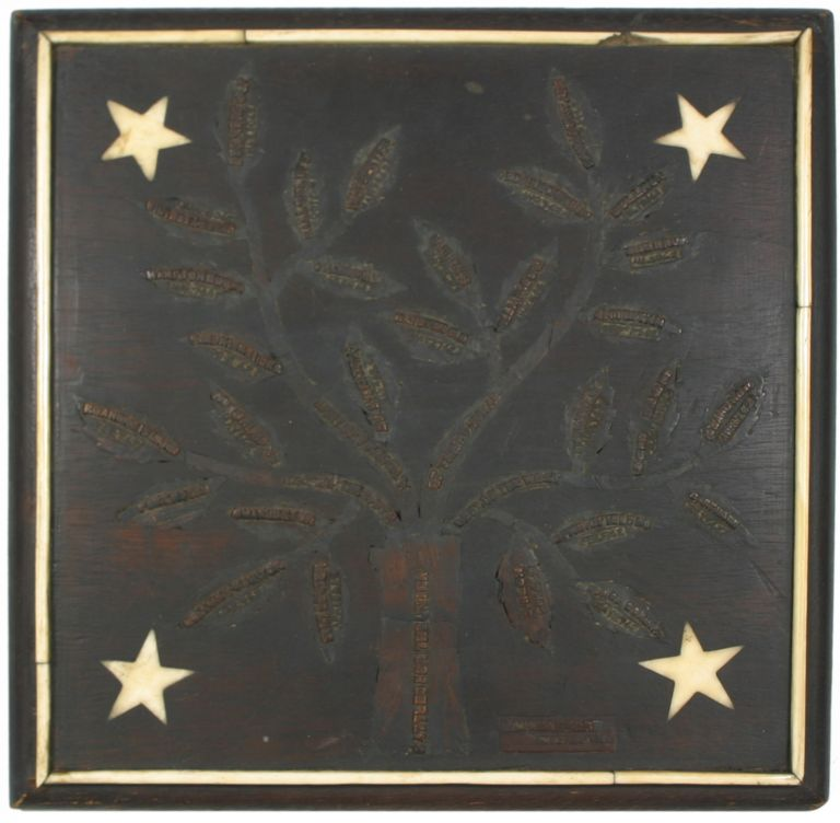A Civil War Soldier's Carved Wooden Folk Art Memorial to his Service in the Union Army, c. 1863. Civil War, Alexander Barber, Folk Art.