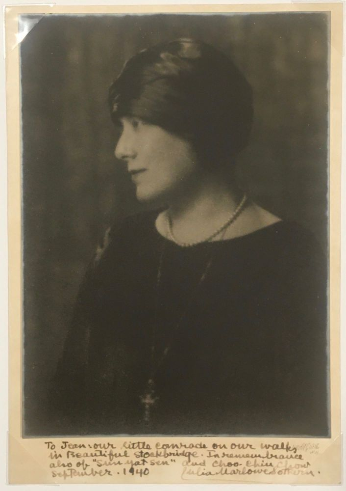 Portrait of Julia Marlowe. [Inscribed by Marlow to a Friend, 1940]. Women, Arnold Genthe, Suffrage, Theatre, Julia Marlowe.