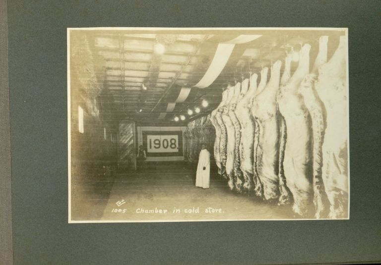 "Some Photographs Taken at the Inauguration of the Uruapan Packing Plant, 18th January 1908. Mexico, or Popo Mexican National Packing Co., Beef Industry, Industrial Photography, John Wesley De Kay, aka the ""Sausage King"" of Mexico."