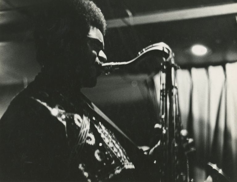 Collection of Nineteen Photographs of Jazz Musicians in Boston's Jazz Workshop and Lennie's on the Turnpike in Peabody, Massachusetts c. 1969 including Miles Davis, Pharoah Sanders, Freddie Hubbard, and Others. Dan Bolling.