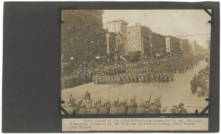 Two Press Photographs Relating to the 15th Infantry. World War One, International Film Service /...