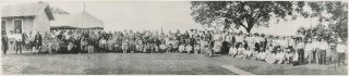 Panorama Photograph of the Osage Princess Ceremony, 1929. Osage Nation