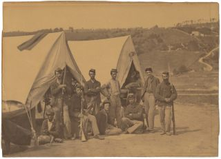 "Albumen Photograph from ""Incidents of the War,"" 'Harper's Ferry VA, 22nd Regiment, New York..."