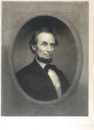Portrait of Abraham Lincoln. Artist's Proof. Abraham Lincoln, Edgar Marshall