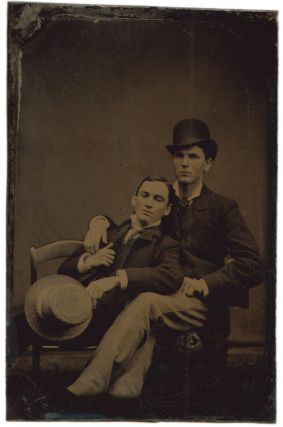 Tintype of Two Men Seated, circa 1875-1880. Photography - 19th Century, Vernacular