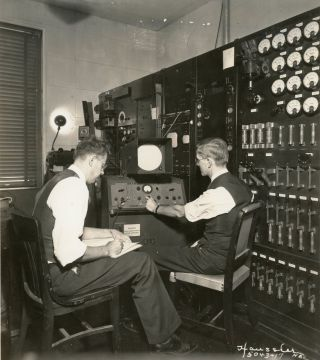 A Collection of Thirty-Four Photographs Relating to the First Broadcasts of NBC Television, c. 1937-1940.