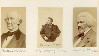 Album of Albumen Portraits of Noted Abolitionists, Cultural Figures and Politicians including an...