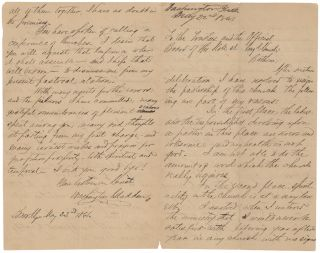May 22, 1881. Autograph Letter to the Board of the State Street Church, Explaining the Reasons...