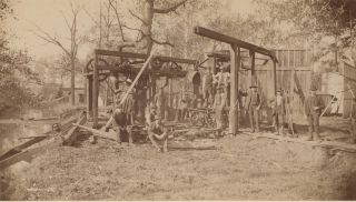 Ten Photographs Taken in 1887-1888 of the Miami Powder Company After an Explosion, with Several...