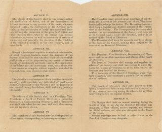 African Civilization Society [Constitution of the African Civilization Society].