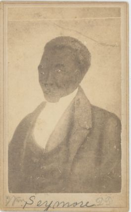 Carte-De-Visite Portrait of Reverend William Seymore, After a Painting. African-Americana, Rev....