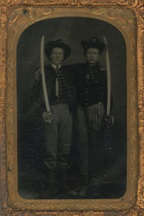 A Pair of Tintypes of Civil War Soldiers in Federal Uniforms, Possibly Women.
