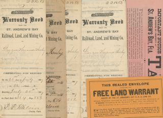 A Collection of Ephemera Relating to the Dubious Sale of Land in the Florida Panhandle in the 1880s.