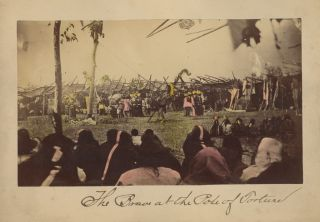 Six Photographs of American Indian Ceremonies Including the Sun Dance, c. 1880-1883.