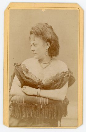 Carte-de-Visite of Pauline Cushman. Civil War, Sutterley, Co, Women, Pauline Cushman