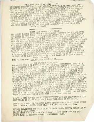 Small Archive of Magician George Corrigan's Correspondence with other Magicians, Circa 1930, Regarding Tricks.