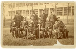 Cabinet Card Photograph of American Indian Delegates and Interpreters Visiting the Carlisle...