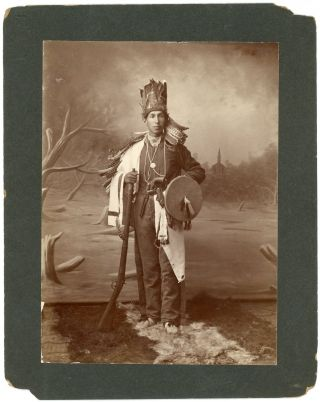 Portrait of Frank Love, Durant, Indian Territory, c. 1900. American Indians, Choctaw