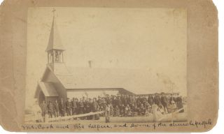 Photograph Taken at Holy Cross Episcopal Church, Pine Ridge, Likely in the Period Just Prior to...