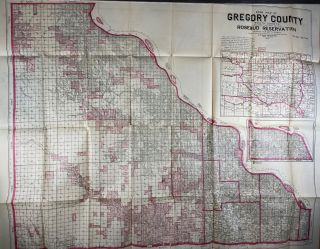 Farm Map of Gregory County, South Dakota: Including That Part of the Rosebud Reservation to be...