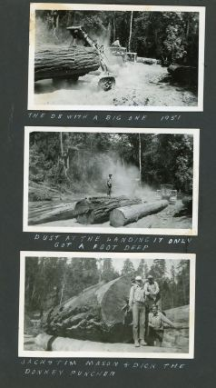 Photo Album of Logging in Humboldt and Eureka Counties, c. 1951-1960. Industrial Photography,...