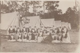 Photographic and Manuscript Archive of a Nurse in the Spanish-American War, Containing Over Ninety Photographs of Military Scenes in Cuba and Florida Surrounding the Conflict, c. 1899.