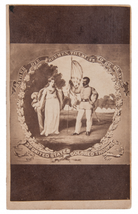 Carte-de-Visite Photograph of D.B. Bowser's Banner for the 3rd United States Colored Troops,...