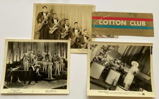 Three Promotional Photographs and Signed Menu from The Cotton Club. Cab Calloway