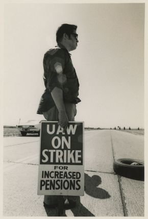 Forty Photographs of Workers in San Francisco during the United Auto Workers / General Motors Strike of 1970.